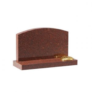 EC244 Ruby Red granite with arc top and flower container