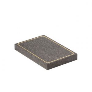 EC246 Dark Grey granite with gilded scalloped pin line