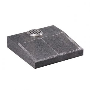 EC254 Light Grey granite desk with etched and highlighted book design
