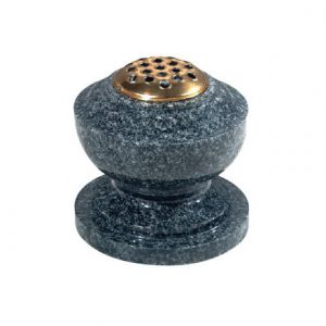 EC280 Dark grey granite bowl vase