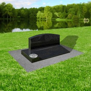 Black-granite-with-concrete-base-at-thornhill-memorials-masons-of-grave-and-cremation-stones-cardiff-MS336