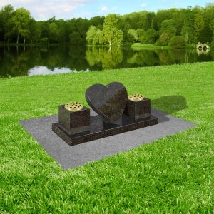 Black-star-galaxy-granite-with-concrete-base-at-thornhill-memorials-masons-of-grave-and-cremation-stones-cardiff-MS337