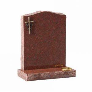 EC60-Ruby-Red-granite-with-optional-bronze-cross-ornamentation-thornhill-memorials