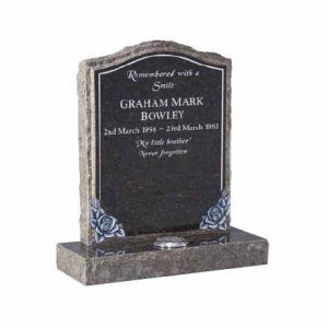 EC66-Blue-Pearl-granite-with-hand-carved-roses-and-pitched-edges-thornhill-memorials
