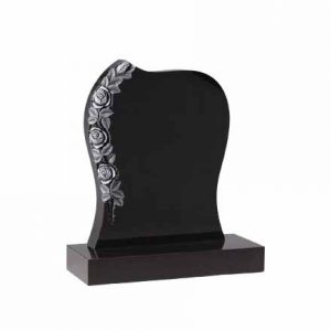 EC75-Black-granite-with-carved-roses-thornhill-memorials