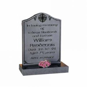 EC81-Black-granite-with-polished-inscription-and-engraved-background-thornhill-memorials