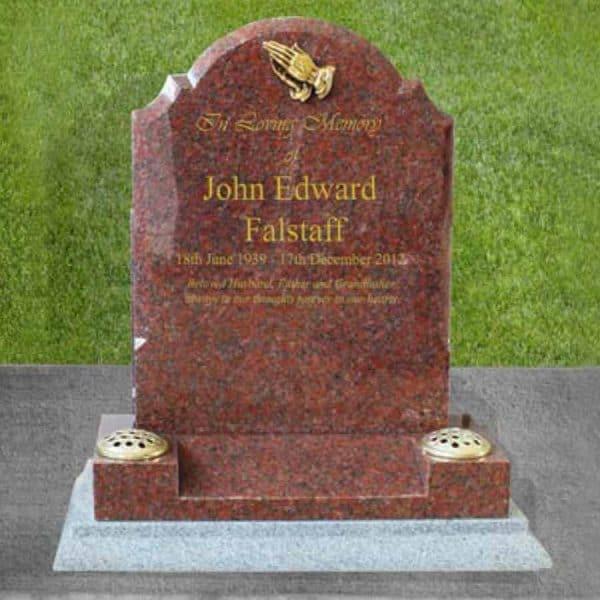 Thornhill memorials wales gravestone grave stone memorial vase set cremation burial