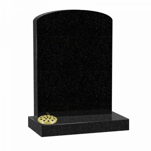 Black granite MS505 memorial at Thornhill Memorials