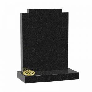 Black granite MS506 memorial at Thornhill Memorials