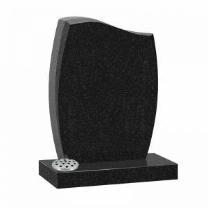 Black granite MS508 memorial at Thornhill Memorials