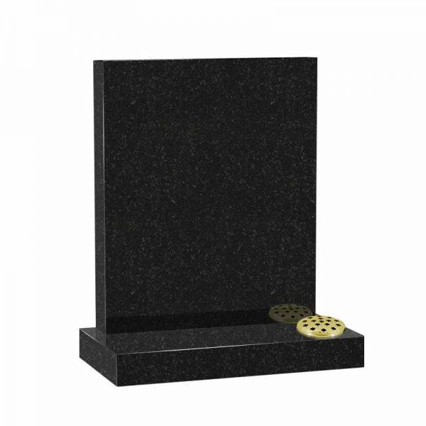 Black granite MS500 memorial at Thornhill Memorials