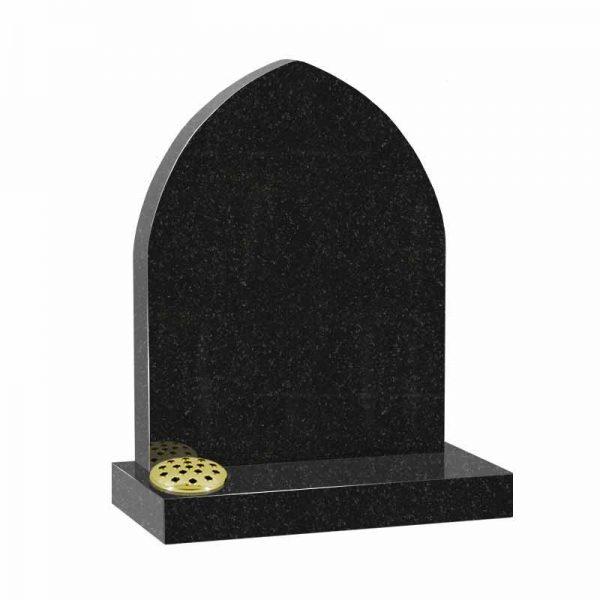 Black granite MS507 memorial at Thornhill Memorials