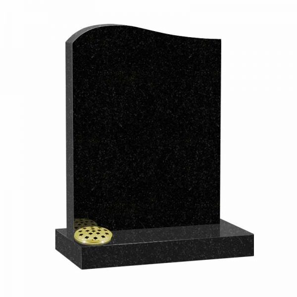 Black granite MS502 memorial at Thornhill Memorials