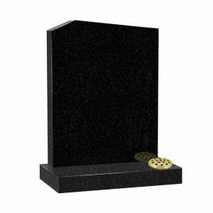 Black granite MS504 memorial at Thornhill Memorials