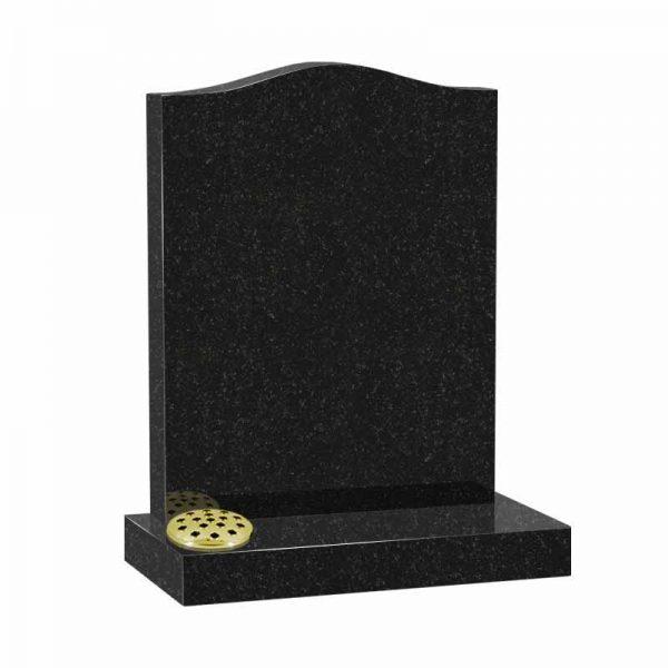 Black granite MS501 memorial at Thornhill Memorials