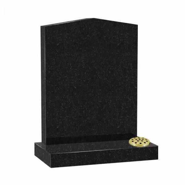 Black granite MS503 memorial at Thornhill Memorials