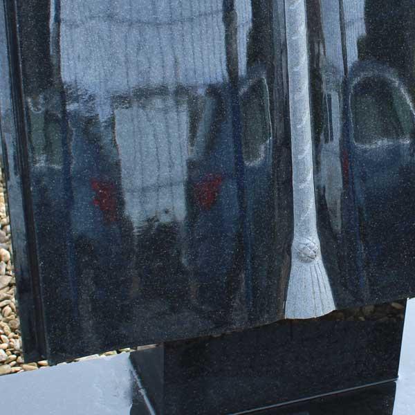 Thornhill Memorials Black Granite Book Memorial