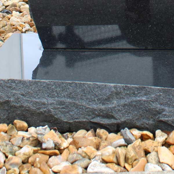 Thornhill Memorials Black Granite Rustic Edge