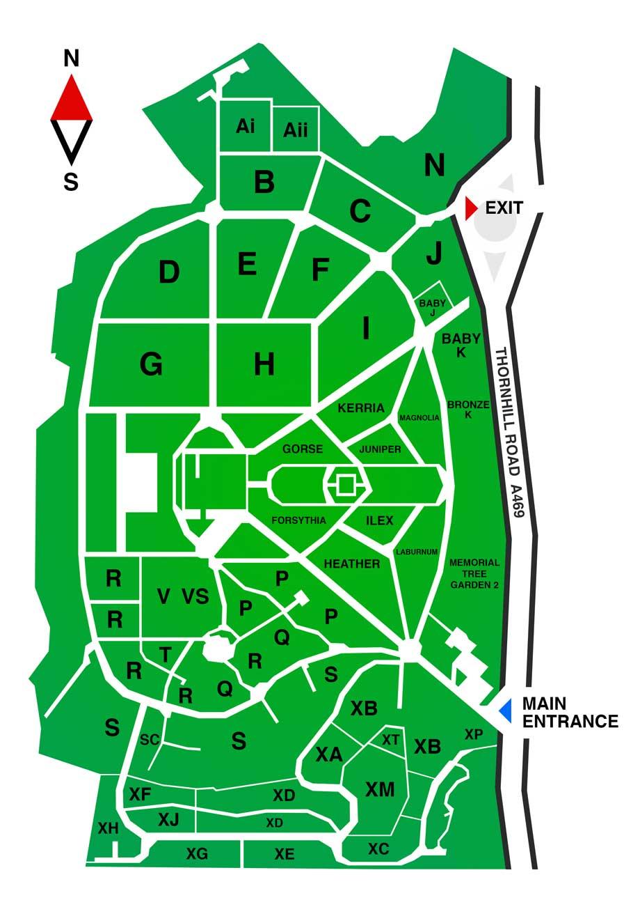 Thornhill Cemetery and Crematorium Map View