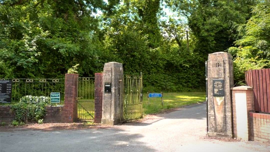 Main entrance to Pantmawr Cemetery in Cardiff